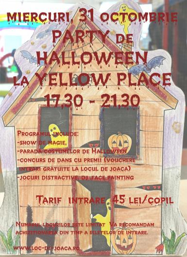 poze party de halloween la yellow place