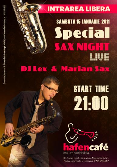 poze special sax night with dj lex marian sax