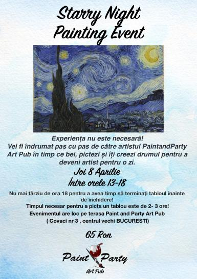 poze starry night painting event 8 aprilie