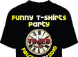 funny t shirts party in times pub