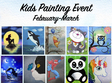 kids painting event february march