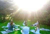 sunrise glamping retreat yoga mindufull meditation